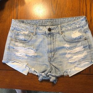 American Eagle Light Wash Jean Shorts size 12